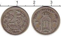 Изображение Монеты Европа Швеция 25 эре 1899 Серебро VF