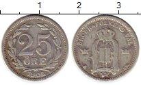 Изображение Монеты Европа Швеция 25 эре 1905 Серебро VF