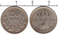 Изображение Монеты Швеция 25 эре 1936 Серебро VF
