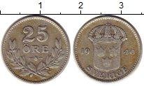 Изображение Монеты Швеция 25 эре 1940 Серебро VF