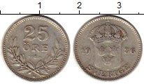 Изображение Монеты Европа Швеция 25 эре 1936 Серебро VF