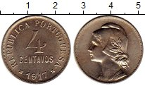 Изображение Монеты Европа Португалия 4 сентаво 1917 Медно-никель UNC-