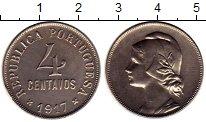 Изображение Монеты Португалия 4 сентаво 1917 Медно-никель UNC-