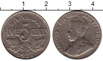 Изображение Монеты Северная Америка Канада 5 центов 1927 Медно-никель XF
