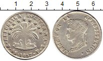 Изображение Монеты Боливия 4 соля 1857 Серебро XF