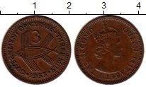 Изображение Монеты Кипр 3 милса 1955 Бронза XF