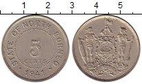 Изображение Монеты Великобритания Борнео 5 центов 1941 Медно-никель XF