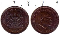 Изображение Монеты Африка Сьерра-Леоне 1/2 цента 1980 Бронза XF