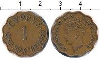 Изображение Монеты Кипр 1 пиастр 1944 Бронза XF Георг VI