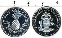 Изображение Монеты Северная Америка Багамские острова 5 центов 1974 Медно-никель Proof-