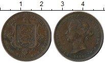 Изображение Монеты Остров Джерси 1/26 шиллинга 1870 Бронза XF- Виктория
