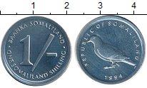 Изображение Монеты Сомали Сомалиленд 1 шиллинг 1994 Алюминий UNC
