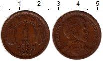 Изображение Монеты Южная Америка Чили 1 песо 1943 Бронза VF