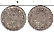 Изображение Монеты Южная Америка Эквадор 1/2 десимо 1902 Серебро VF
