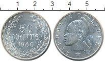 Изображение Монеты Африка Либерия 50 центов 1960 Серебро UNC