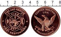 Изображение Мелочь США 1 унция 0 Медь UNC Пожарная служба