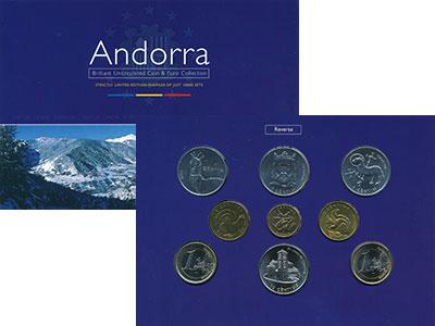 Изображение Подарочные монеты Европа Андорра Набор монет 2002  UNC