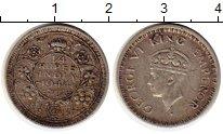 Изображение Монеты Азия Индия 1/4 рупии 1944 Серебро XF