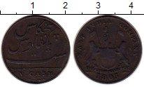 Изображение Монеты Индия 5 кэш 1803 Медь XF Восточно-Индийская к