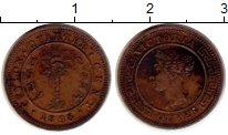 Изображение Монеты Цейлон 1/4 цента 1898 Медь VF