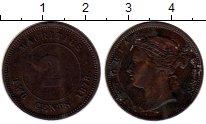 Изображение Монеты Маврикий 2 цента 1878 Медь XF-
