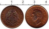 Изображение Монеты Африка ЮАР 1/4 пенни 1952 Медь Proof-