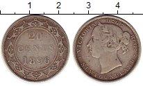 Изображение Монеты Канада Ньюфаундленд 20 центов 1896 Серебро VF
