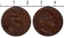 Изображение Монеты Европа Великобритания 1 фартинг 1837 Медь XF-