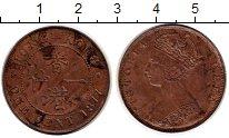 Изображение Монеты Гонконг 1 цент 1877 Медь XF Вмктория