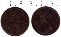 Изображение Монеты Гонконг 1 цент 1877 Медь VF