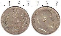 Изображение Монеты Индия 1 рупия 1907 Серебро XF Эдуард VII