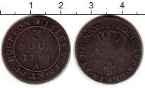 Изображение Монеты Франция Реюньон 3 су 1781 Медь VF