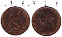 Изображение Монеты Великобритания 1/2 пенни 1862 Бронза UNC-