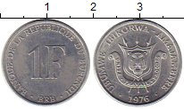 Изображение Монеты Бурунди 1 франк 1976 Алюминий XF