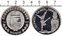 Изображение Монеты Северная Корея 1000 вон 2006 Серебро Proof- Олимпийские игры, ги