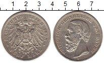 Изображение Монеты Германия Баден 5 марок 1898 Серебро XF-