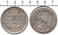 Изображение Монеты Северная Америка Гватемала 1 песо 1864 Серебро XF