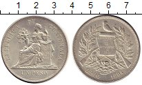 Изображение Монеты Северная Америка Гватемала 1 песо 1894 Серебро XF