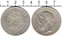 Изображение Монеты Баден 5 марок 1888 Серебро XF-