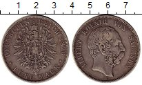 Изображение Монеты Германия Саксония 5 марок 1876 Серебро XF