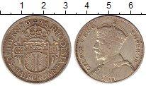 Изображение Монеты Великобритания Родезия 1/2 кроны 1935 Серебро XF