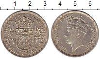 Изображение Монеты Великобритания Родезия 1/2 кроны 1937 Серебро XF