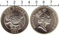 Изображение Монеты Великобритания Бермудские острова 1 доллар 1986 Серебро UNC