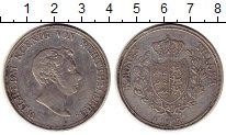 Изображение Монеты Вюртемберг 1 талер 1825 Серебро XF Вильгельм