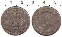 Изображение Монеты ФРГ 2 марки 1973 Медно-никель XF F, Теодор Хойс