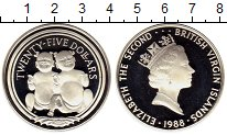 Изображение Монеты Виргинские острова 25 долларов 1988 Серебро Proof- Елизавета II, детски