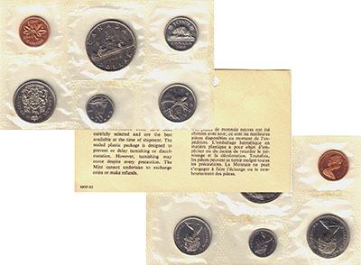 Изображение Подарочные монеты Северная Америка Канада Набор 1968 года 1968  UNC