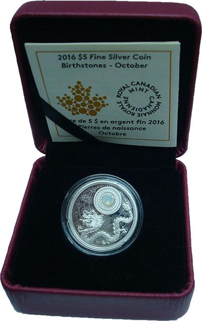 Изображение Подарочные монеты Северная Америка Канада 5 долларов 2016 Серебро Proof