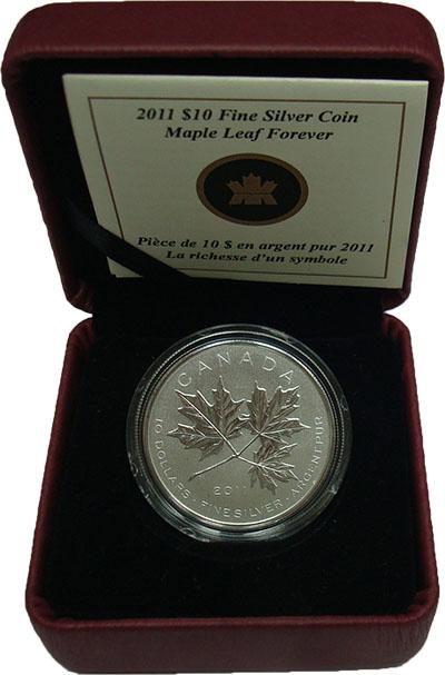 Изображение Подарочные монеты Северная Америка Канада 10 долларов 2011 Серебро UNC