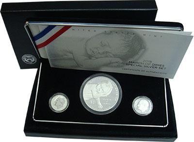 Изображение Подарочные монеты США Марш десятицентовиков 2015 Серебро Proof